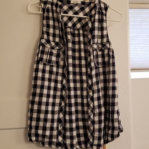 Maurices Plaid Button Tank